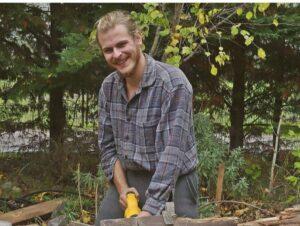 Man doing gardening work
